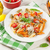 colorful penne pasta and white wine stock photo © karandaev