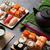 セット · 寿司 · マキ · 緑茶 · 石 · 表 - ストックフォト © karandaev