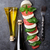 салат · Капрезе · моцарелла · помидоров · базилик · сыра · трава - Сток-фото © karandaev