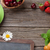 zwarte · schoolbord · croissant · bessen · roze · donut - stockfoto © karandaev