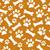orange and white dog paw prints and bones tile pattern repeat ba stock photo © karenr