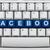 osztás · facebook · számítógép · billentyűzet · kulcsok · szó · billentyűzet - stock fotó © karenr