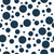 navy blue polka dots on white textured fabric background stock photo © karenr