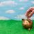 экономия · Piggy · Bank · деньги · изолированный · белый · стекла - Сток-фото © karenr