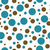 teal brown and white polka dot tile pattern repeat background stock photo © karenr