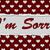 im sorry message stock photo © karenr