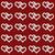 fehér · szeretet · szívek · piros · végtelen · minta · rajz - stock fotó © karenr