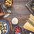 ingredients of italian cuisine on the wooden table top view stock photo © karpenkovdenis