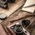 деревянный · стол · вертикальный · продовольствие · фон · сэндвич · горячей - Сток-фото © karpenkovdenis