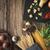 spagetti · húsgombócok · közelkép · levelek · vacsora · hús - stock fotó © karpenkovdenis