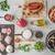 ingredients for paella on the white table horizontal stock photo © karpenkovdenis