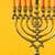 Hanukkah menorah with candles on the yellow background horizontal stock photo © Karpenkovdenis
