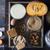 ingredients for pumpkin dump cake on the dark old background top view stock photo © karpenkovdenis