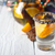 Citrus cocktail in the decorated glass on the white wooden table stock photo © Karpenkovdenis