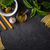 szett · olasz · étel · fekete · kő · asztal · széles - stock fotó © Karpenkovdenis
