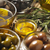 olijven · rosmarijn · kom · peper · shaker · houten - stockfoto © karpenkovdenis