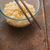 soup ramen noodles in glass bowl and wooden sticks stock photo © karpenkovdenis