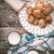 Book, oatmeal cookies and a cup of milk on old boards stock photo © Karpenkovdenis