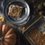 slice of pumpkin pie on the metal plate on the wooden table with autumn gifts stock photo © karpenkovdenis