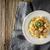 húsgombócok · paradicsomszósz · spagetti · tányér · étel · vacsora - stock fotó © karpenkovdenis