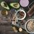 ruw · kom · houten · tafel · top - stockfoto © karpenkovdenis