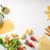 İtalyan · gıda · beyaz · gıda · cam · arka · plan - stok fotoğraf © karpenkovdenis