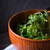 Wooden bowl with chuka salad on the dark background stock photo © Karpenkovdenis