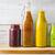 flessen · jar · verschillend · smoothie · witte · houten - stockfoto © Karpenkovdenis