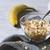 燕麦 · ガラス · ボウル · 木製のテーブル · バナナ - ストックフォト © karpenkovdenis