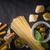 szett · olasz · étel · fekete · kő · asztal · felső - stock fotó © Karpenkovdenis