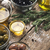 olives with different seasoning on the wooden table stock photo © karpenkovdenis