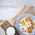 finom · sütemény · mazsola · fehér · fa · asztal · tekercsek - stock fotó © karpenkovdenis