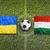 ukraine vs hungary flags on soccer field stock photo © kb-photodesign