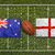 australia vs england flags on rugby field stock photo © kb-photodesign