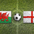 wales vs england flags on soccer field stock photo © kb-photodesign