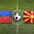 liechtenstein vs macedonia flags on soccer field stock photo © kb-photodesign