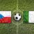 czech republic vs ireland flags on soccer field stock photo © kb-photodesign