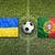 ukraine vs portugal flags on soccer field stock photo © kb-photodesign