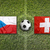 czech republic vs switzerland flags on soccer field stock photo © kb-photodesign