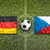 germany vs czech republic flags on soccer field stock photo © kb-photodesign
