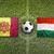 andorra vs hungary flags on soccer field stock photo © kb-photodesign