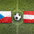 Czech Republic vs. Austria flags on soccer field stock photo © kb-photodesign