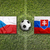 czech republic vs slovakia flags on soccer field stock photo © kb-photodesign