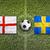 england vs sweden flags on soccer field stock photo © kb-photodesign