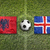 Arnavutluk · vs · İzlanda · bayraklar · futbol · sahası · yeşil - stok fotoğraf © kb-photodesign