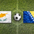 Кипр · против · Босния · и · Герцеговина · флагами · футбольное · поле · зеленый - Сток-фото © kb-photodesign