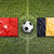 Turkey vs. Belgium flags on soccer field stock photo © kb-photodesign