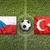 czech republic vs turkey flags on soccer field stock photo © kb-photodesign