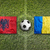 Albania vs. Romania flags on soccer field stock photo © kb-photodesign