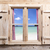 Wooden window with beach panorama view stock photo © kb-photodesign